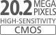 Capteur CMOS 20,2millions de pixels