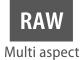 Format RAW dans plusieurs formats d'image
