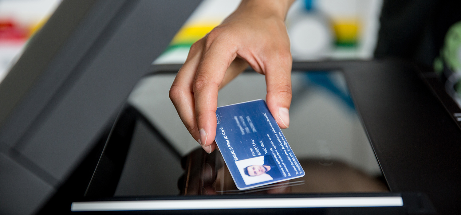 ID card copy functionality